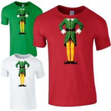 Elf Body T-Shirt - Cute Christmas Humour Funny Buddy Festive Gift Kids Mens Top